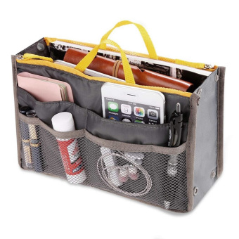 Amart Portable Travel Storage Organizer Bags Multi-function Casual Handbag(Grey) - intl