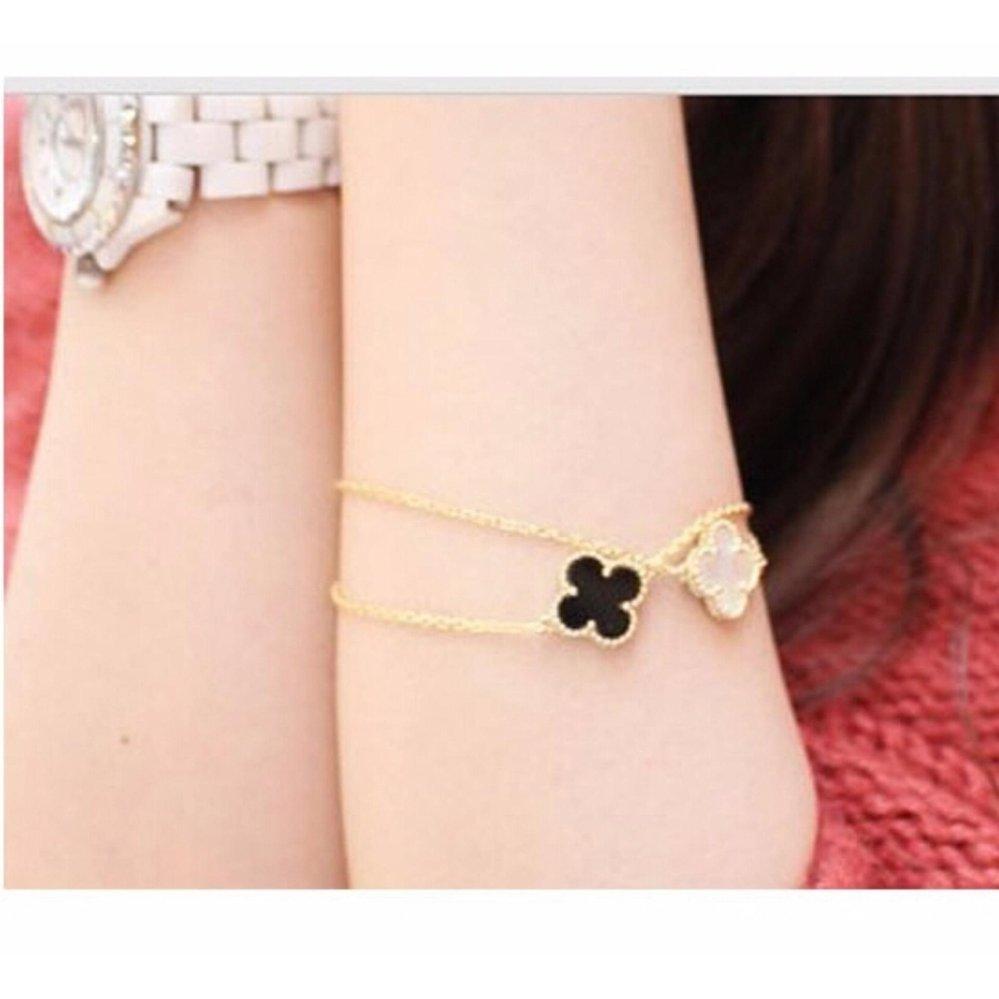 ... Amefurashi Gelang Daun Gingko Serena Four Leaf Bracelet ...