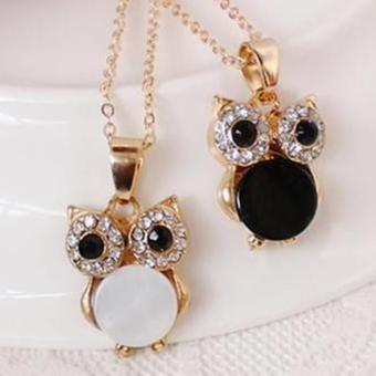 Amefurashi Kalung Korea Burung Hantu Small Owl Beauty Necklace