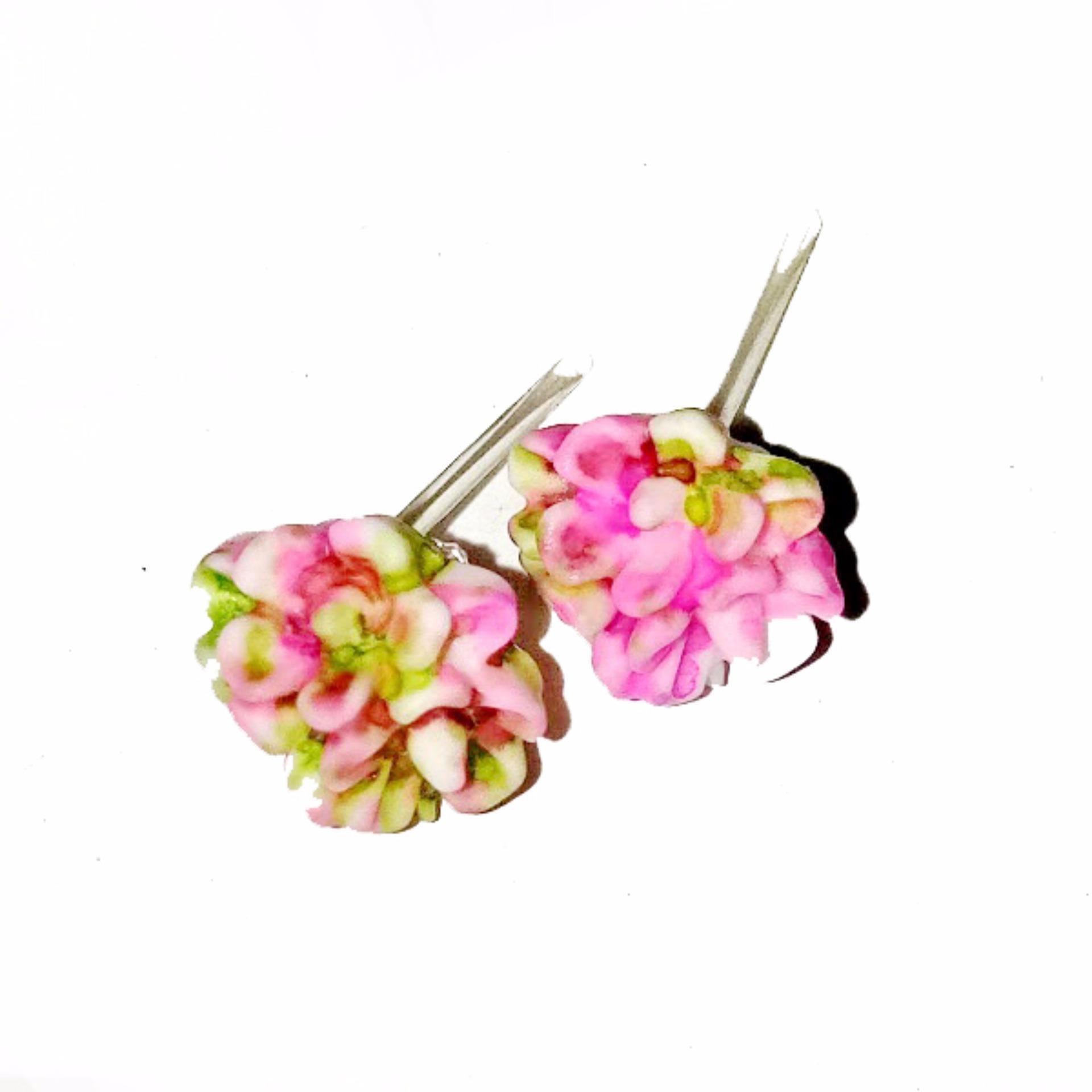 Anneui EE0334 Anting Tusuk Model Bunga Cantik Dengan Warna Mix