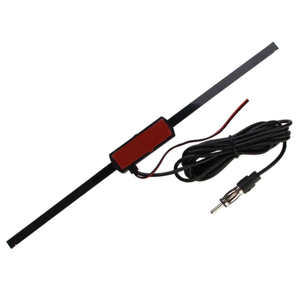 Kaca Depan Mobil Universal Antena Radio Fm Elektronik Non Arah Flexible 45cm 50cm Tanpa Am