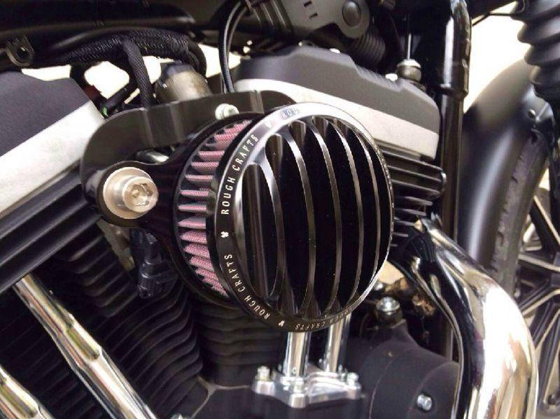Areyourshop Air Cleaner Intake Filter System Kit for HarleySportster XL883 XL1200 88-15 SIL - intl