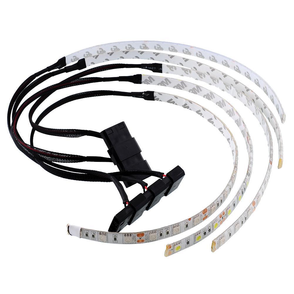 Aukey 60 cm terang fleksibel 18 memimpin strip cahaya untuk dekorasi komputer pc tahan air