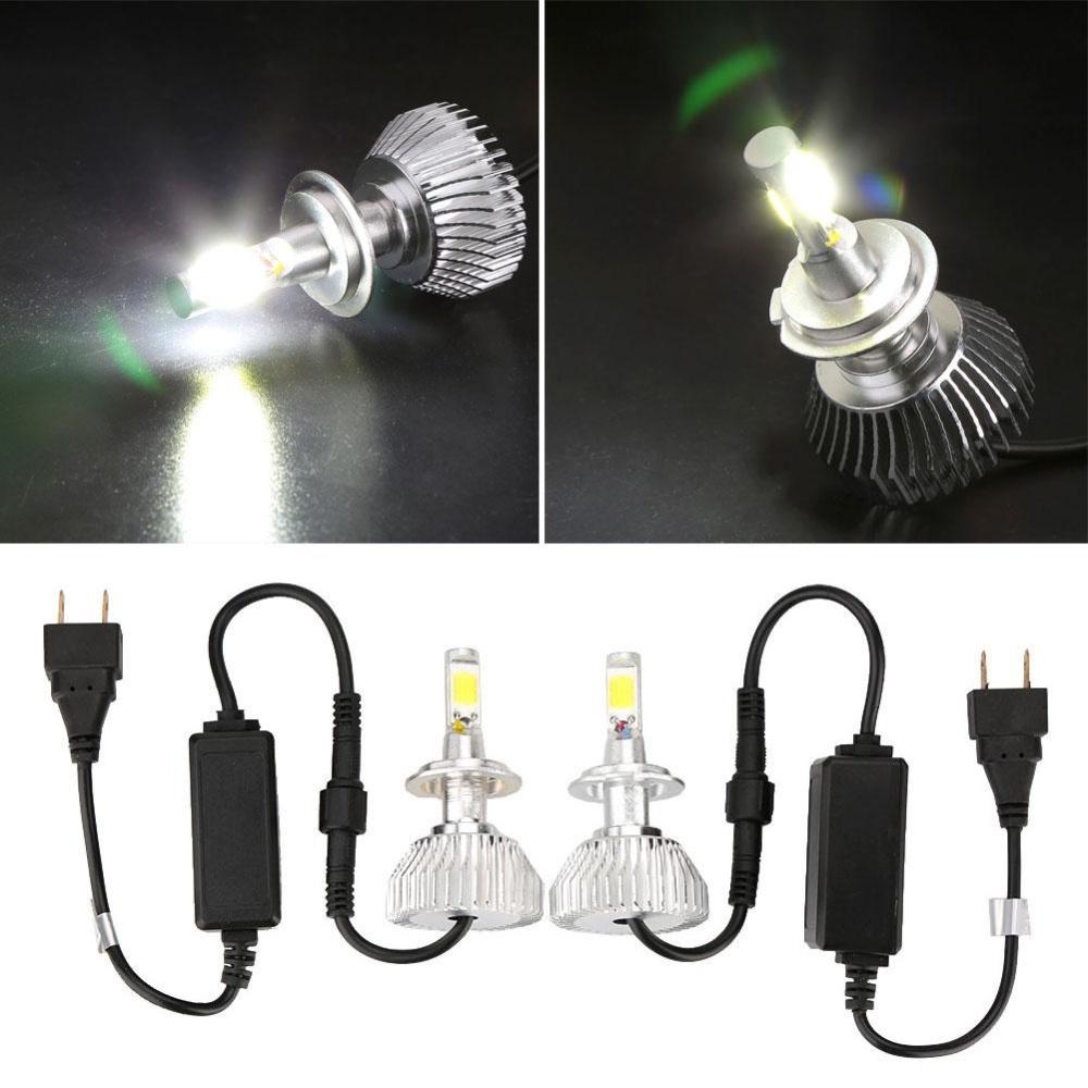 Aukey NEW 2Pcs H1 H7 H11 9005 9006 LED Light Headlight Vehicle Car Hi/Lo Beam Bulb White - intl