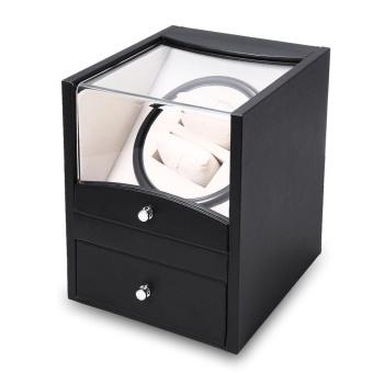 Auto Watch Winder Cuboid Shape Wristwatch Display Box Jewelry Storage Case with Drawer - intl