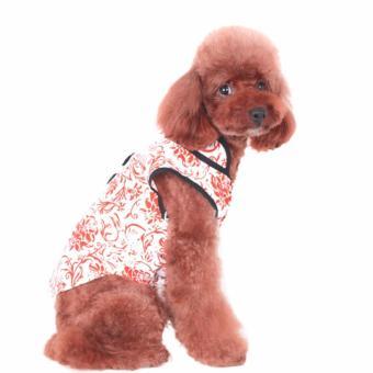 Baju Anjing CNY Betina Kostum Standard Chinese New Year Dog CatKucing - 4 .