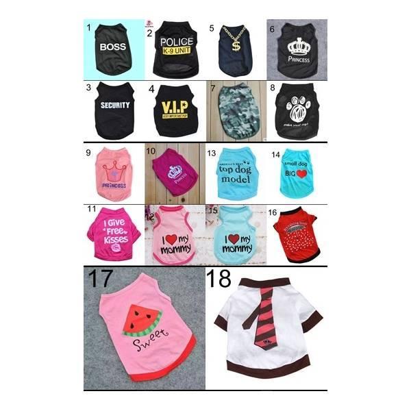 Baju Size S M L Pakaian Kostum Hewan Kucing Kitten Puppy Dog Anjing