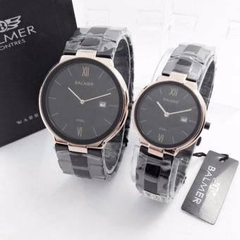 Balmer Original BL7939GBM - Jam Tangan Couple - Full Stainless Stell [Black]