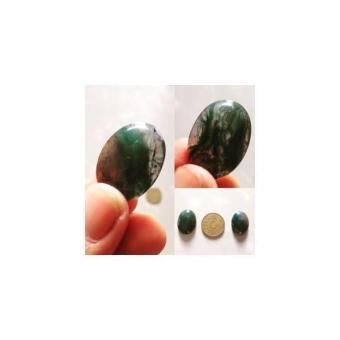 Batu Akik Lumut Afrika / Moss Agate Untuk Liontin