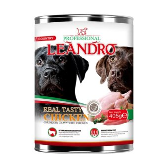 Best In Show Leandro Dog Chicken Makanan Anjing [405 g]