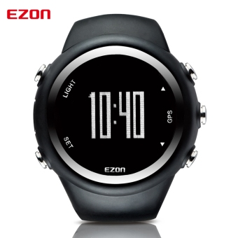 Best Selling EZON GPS Timing Fitness Watches Sport Outdoor Waterproof Digital Watch Speed Distance Calorie Counter (Black)
