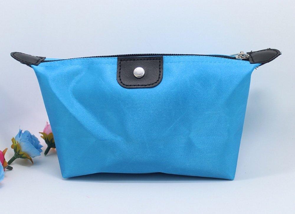 Best Tas Kosmetik Cosmetic Bag Pouch Purse Tempat Dompet Kosmetic Cosmetik - Biru Muda
