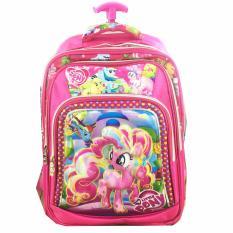 BGC 6 Dimensi Bantalan Punggung My Little Pony 4 Kantung Timbul IMPORT Tas