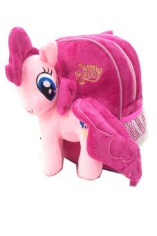 BGC My Little Pony Pinkie Pie Tas Ransel Anak Sekolah TK Boneka Timbul Import + Kotak Pensil + Alat Tulis - Pink - 3
