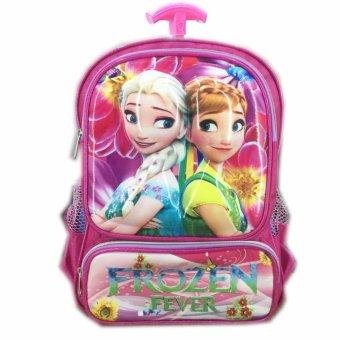 ... BGC Tas Troley Sekolah Anak TK Frozen Fever 3D Timbul Hard Cover
