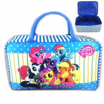 BGC Travel Bag Kanvas My Little Pony Rainbow Dash And Friends New - Blue White