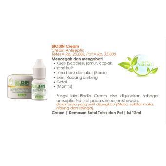 Biodin cream antiseptik radang kulit hewan,borok,gatal,luka, kutu - 2