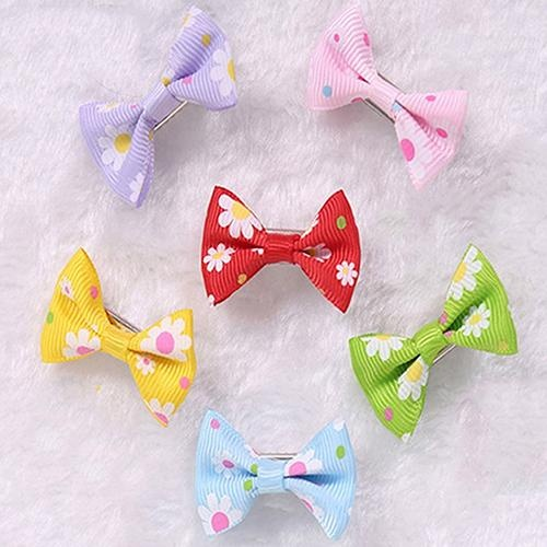 Bluelans(R) 6 Pcs Dog Cat Puppy Hair Clips Hair Bow Tie Flower Bowknot Hairpin Pet Grooming - intl