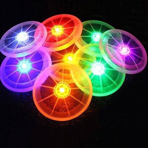 Bluelans(R) Creative LED Flying Disk Light Up Frisbee Outdoor Pet Dog Training Fetch Toy - intl