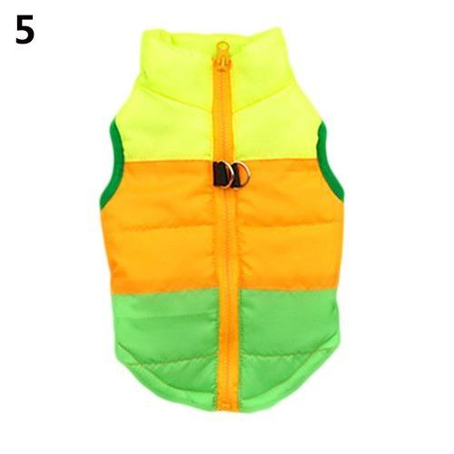 Bluelans(R) Dog Cat Coat Jacket Pet Supplies Clothes Winter Apparel Clothing Puppy Costume L (Green+Yellow) - intl