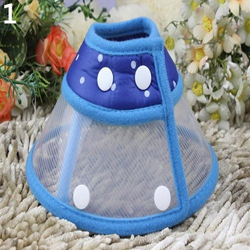 Bluelans(R) Puppy Pet Dog Cat Comfy Cone Neck Collar Anti-Bite Medical Recovery Protection L (Blue) - intl