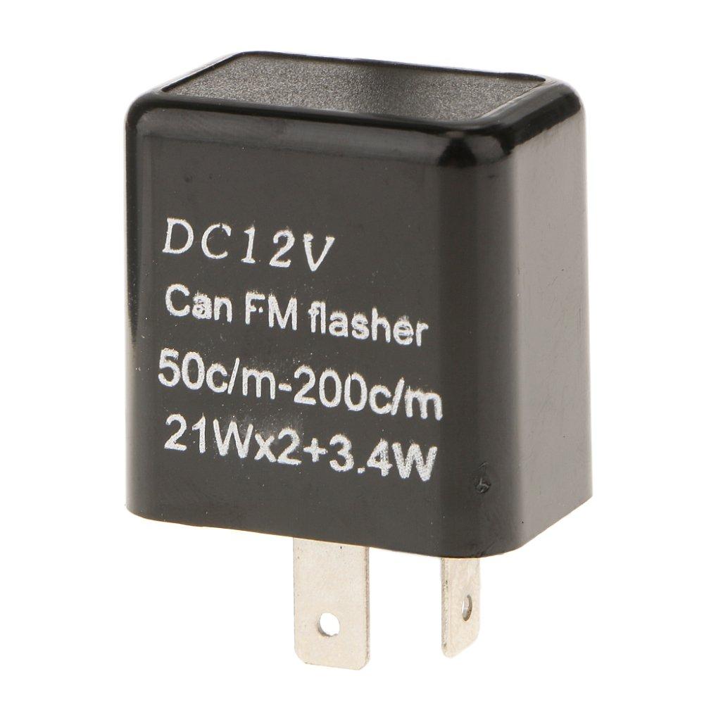 Belanja Murah Bolehdeals 2pin Electronic Flasher Relay Fix For Led 2 Pin Turn Signallamps Hyper Flash 12v Intl