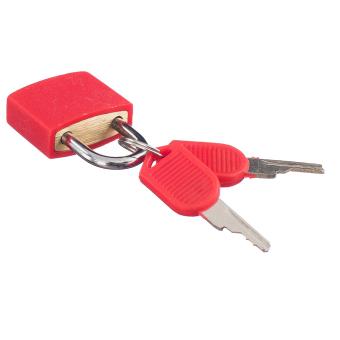 BolehDeals gembok kecil dengan dua kunci untuk koper bagasi tasmerah terang - Internasional - 2 ...
