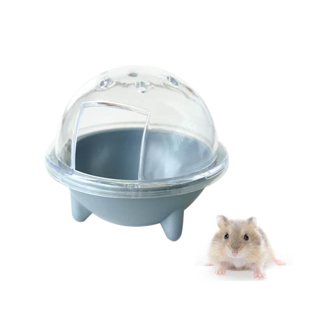 BolehDeals Kandang Kamar Mandi Hewan Peliharaan Gerbille UFOHamsternya Sekop Pasir Toilet Mainan -Perak