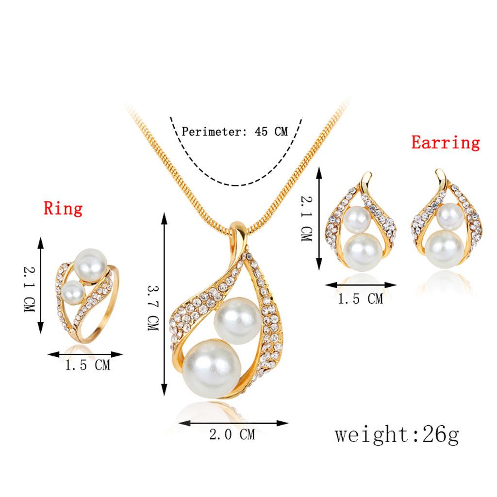 1 Set Kalung Anting Wanita Model Bunga Kristal Besar Gaya Barat Perhiasan Bolehdeals Partai Pernikahan Satu Cincin Kalunganting Mutiara Imitasi