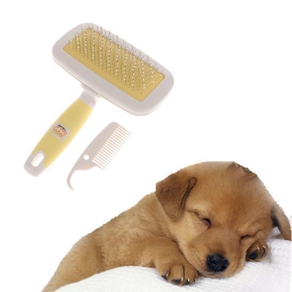 BolehDeals Pet Grooming Brush Rake Cat Dog Hair Fur Brush Comb PinBrush Slicker HS-90 - intl