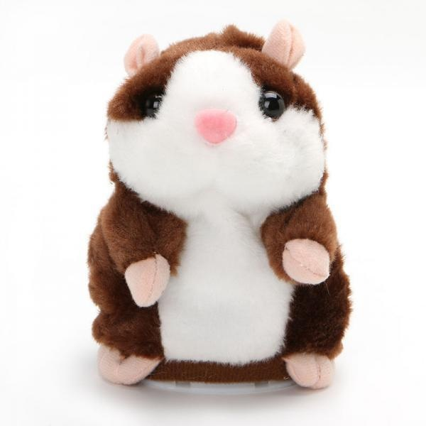 BolehDeals Plush Talking Hamster Toy Speech Recorder Nod Mimicry Repeat Dark Brown - intl