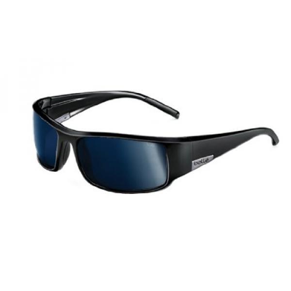 Bolle King Sunglasses, Shiny Black , Polarized TNS oleo AF - intl