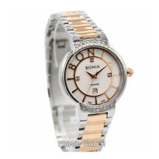 Bonia B10338 - Jam Tangan Wanita - Stainless Steel (Silver Rosegold Putih)