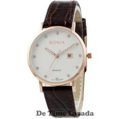 Bonia BNR101-2517 Jam Tangan Wanita Strap Leather Coklat