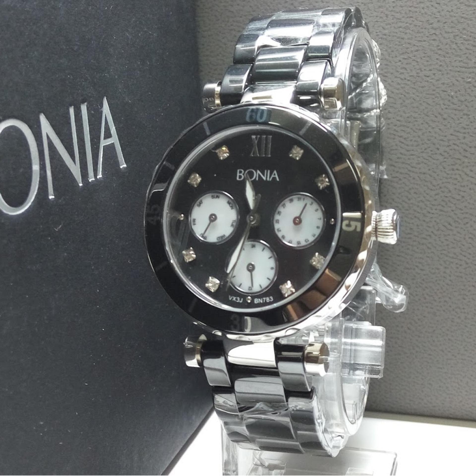 Bonia Bn2117 Er Jam Tangan Wanita Silver Rose Gold Stainless Steel B10099 2157 B783 2333 Black Ceramic
