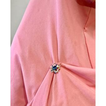 ... Bross Korea strong magnetic brooch scarf Muslim accessories kotak/ bross hijab model bunga - 3
