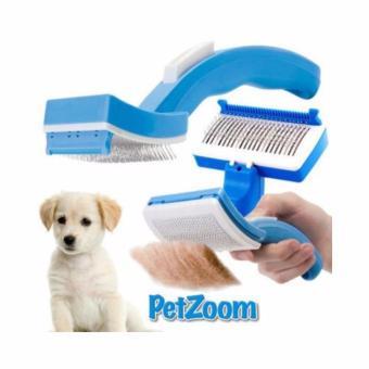 Bukka Sisir Anjing dan Kucing PetZoom - Biru