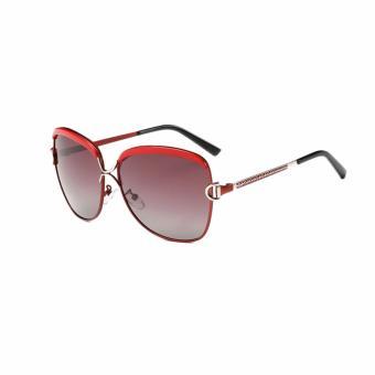 [Buy 1 Get 1 Freebie] AORON Men's Fashion Accessories Anti-UV Polarized Sunglasses P8702(Red) - intl - 4