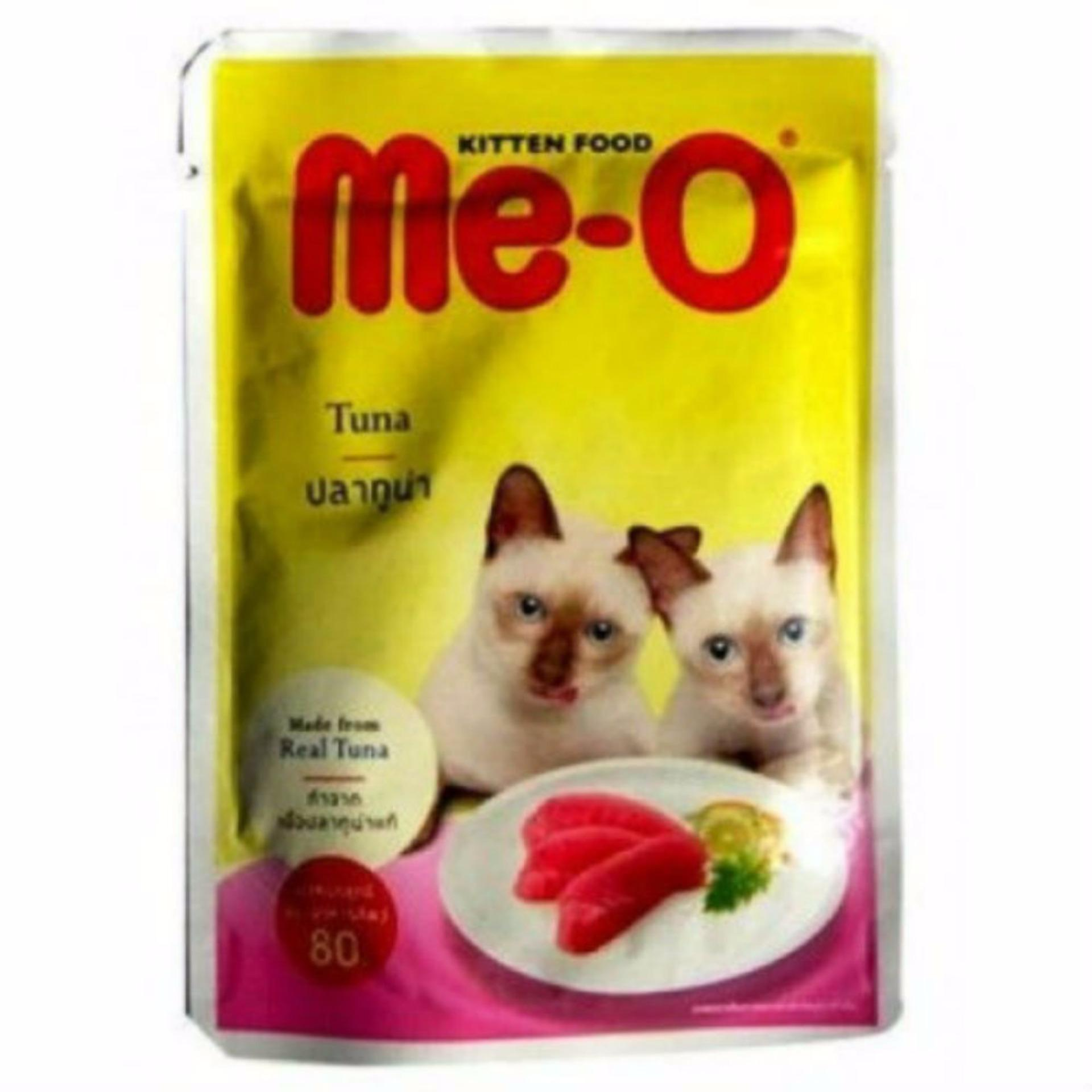 Buy 5 Get 1 Free Me-O Pouch Kitten Food Tuna and Sardine In Jelly 80gr