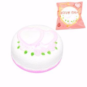 Cannies Squishy Jumbo Kawai love cake taart/squishy kue taart love