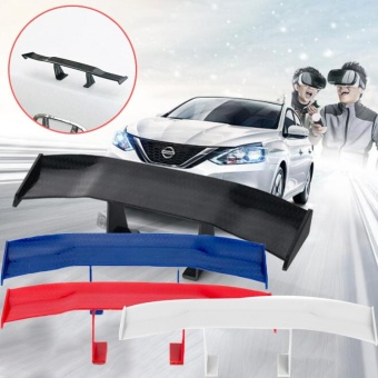 harga Car Universal Rear Tail Spoiler Wing GT Carbon Decoration WithoutPerforation - intl Lazada.co.id