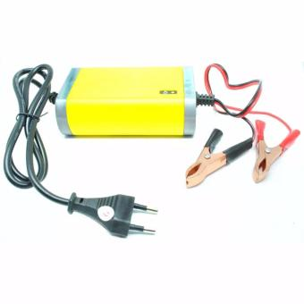 Harga Cas Aki - Portable Motorcrycle Car Battery Charger 12V/2A