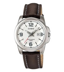 Casio Analog LTP-1314L-7A - Jam Tangan Wanita - Brown & Silver - Leather Band