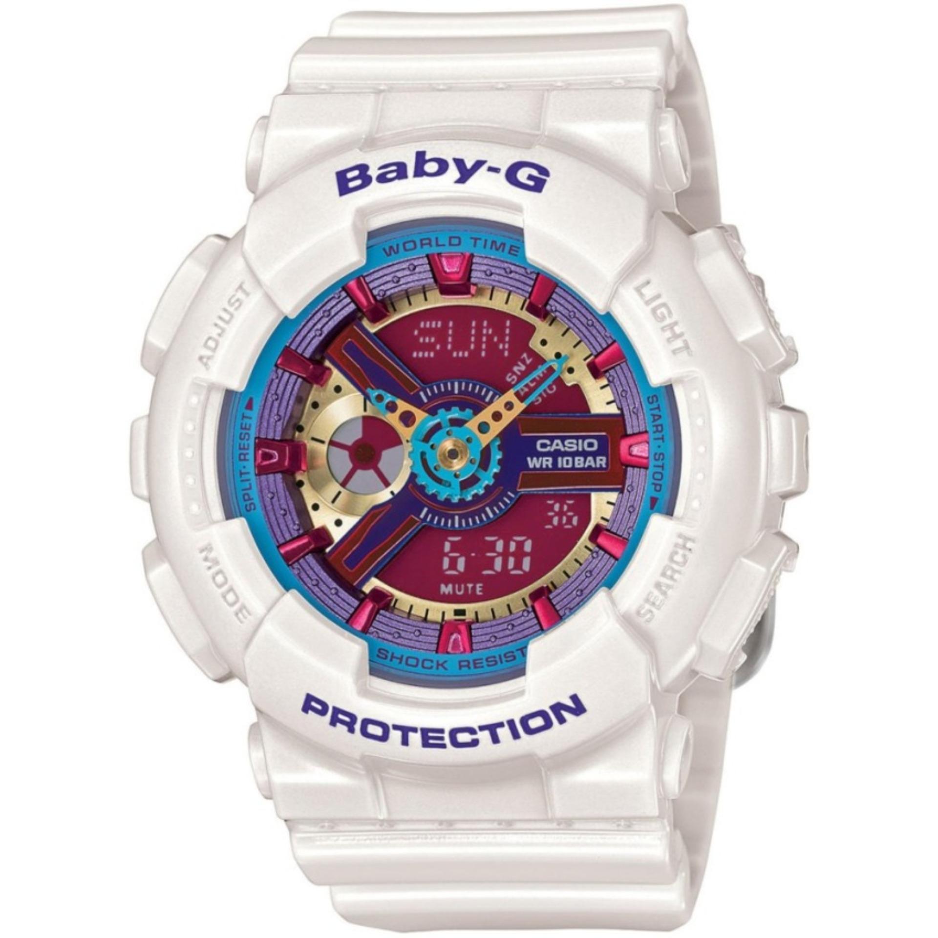 Casio Jam Tangan Pria Biru Strap Resin Mq 71 2b Spec Dan Daftar Europe 27 7bu Black Rubber Baby G Womens Blue Watch Ba 112