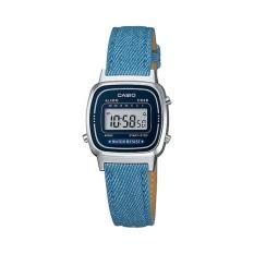 Casio Digital Jam Tangan Wanita - Biru - Strap Kulit - LA-670WL-2A2