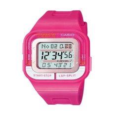 Casio Digital Jam Tangan Wanita - Merah Muda - Strap Karet - SDB-100-4A
