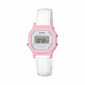 Casio Digital Jam Tangan Wanita - Putih - Strap Kulit - LA-11WL-4A