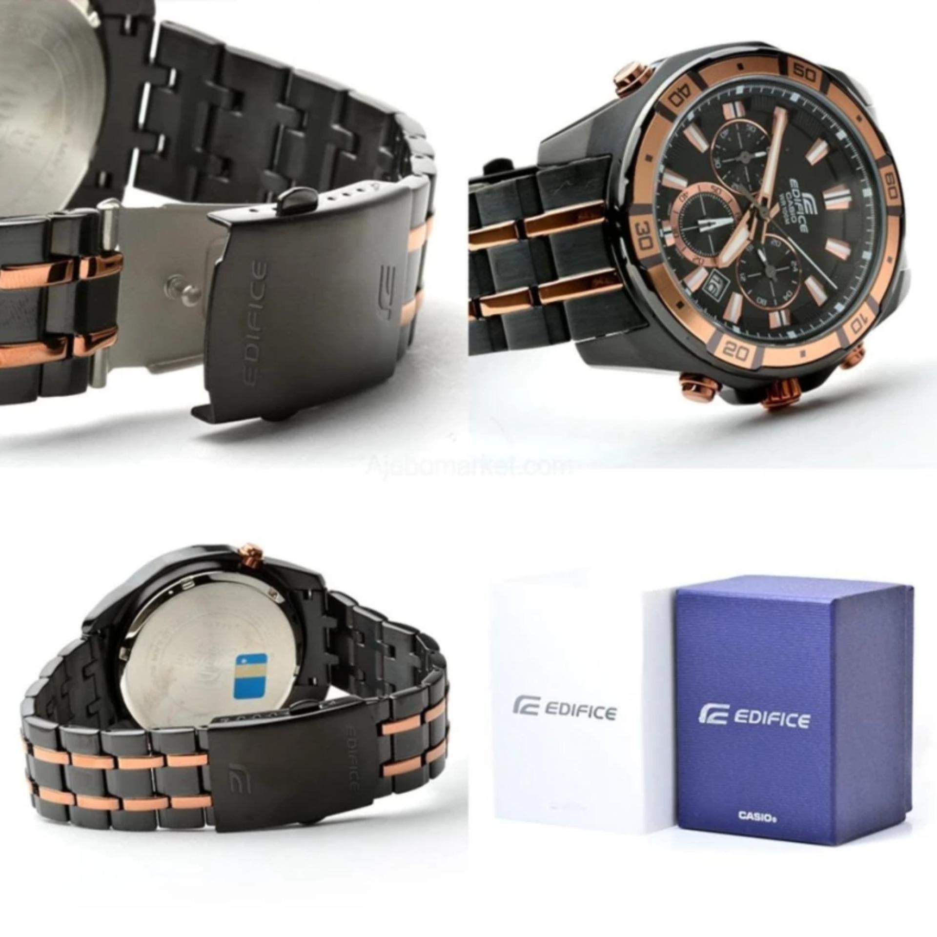 Casio Edifice Eqs A500dc 1a2 Jam Tangan Pria Black Daftar Harga Efr 522d 1avdf Stainless Steel Ef 534bkg 1av