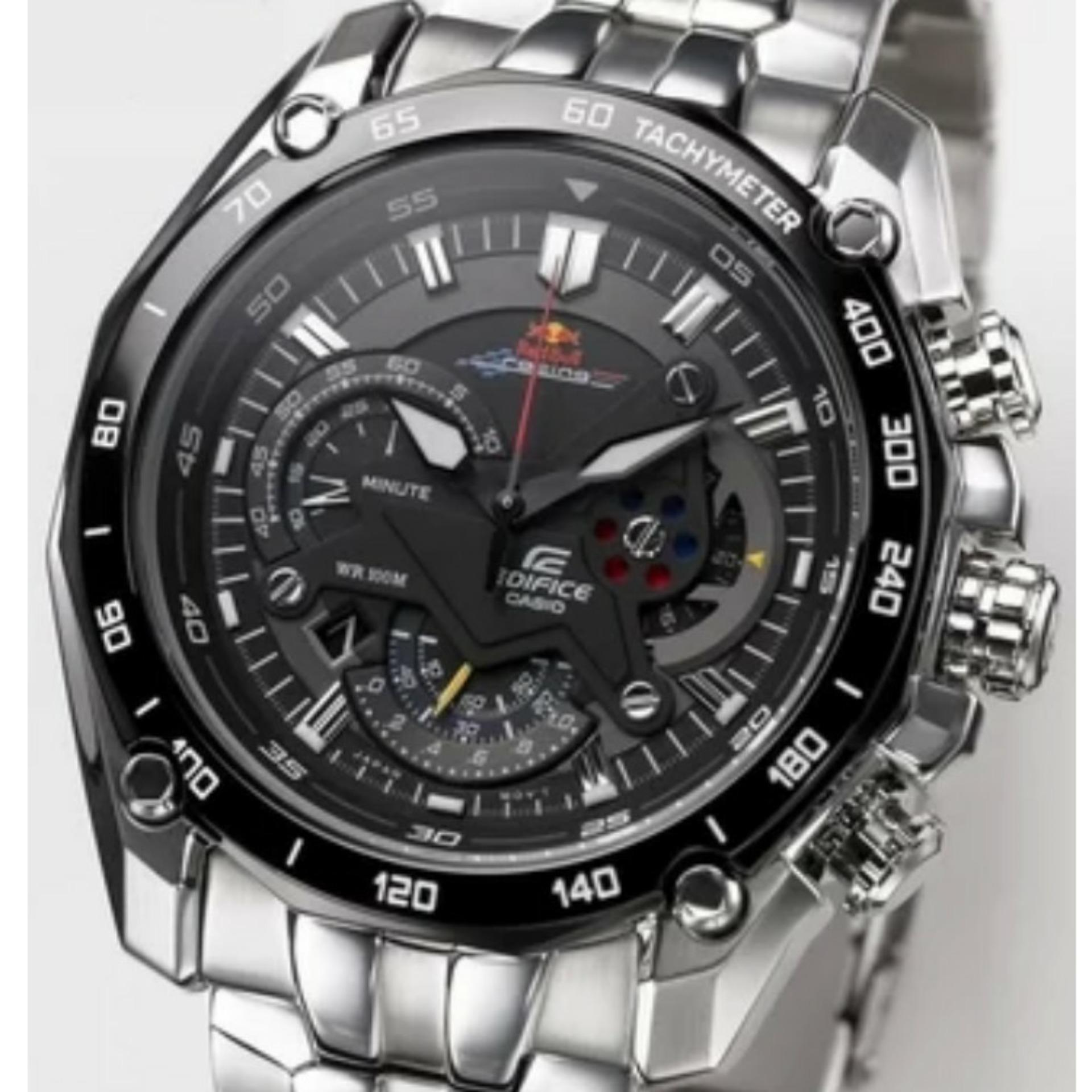 Casio Edifice Efr 550limited Edition Jam Tangan Pria Silver Daftar 503d 7a2vdf Stainless Steel White Ef 550bk Redbull Limited