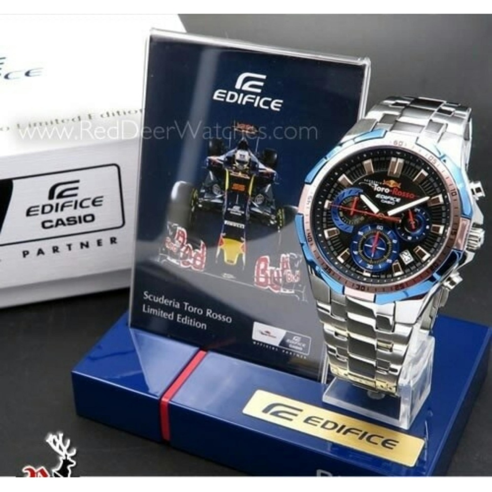 CASIO EDIFICE EFR 554 SILVER BLACK